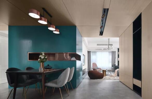 117平现代简约风多少钱?25万打造时尚拼色三居室