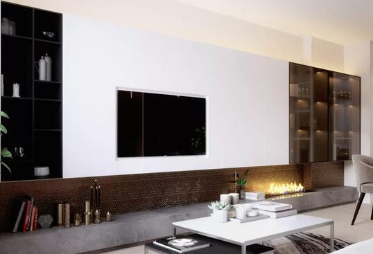 电视背景墙收纳柜