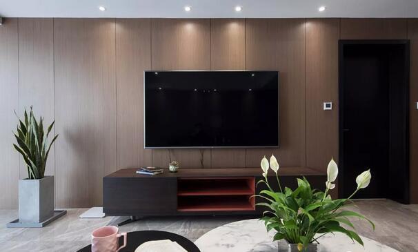 轻奢客厅电视墙