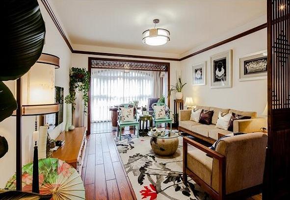 太原木易装饰半山国际花园110平中式风格装修案例