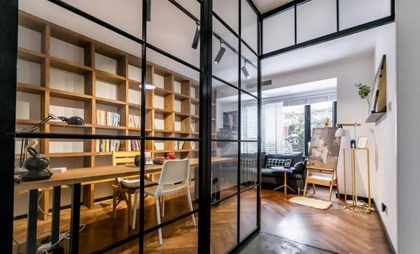 240平复式楼北欧风书房装修