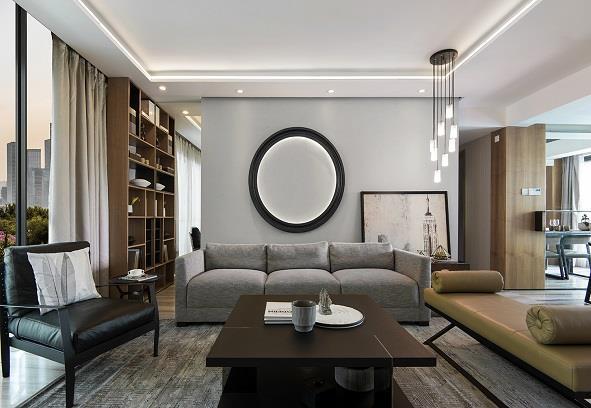 乐山逸境装饰罗浮盛世122平欧式风格装修案例