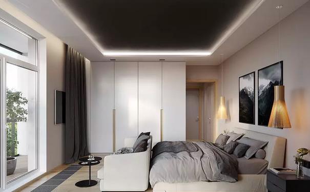 小面积卧室衣柜要到顶