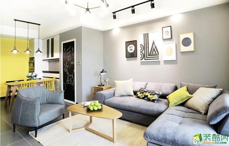 尚酷报价_苏州85平米装修—两室一厅北欧风格新房装修效果图_北欧两室一 ...